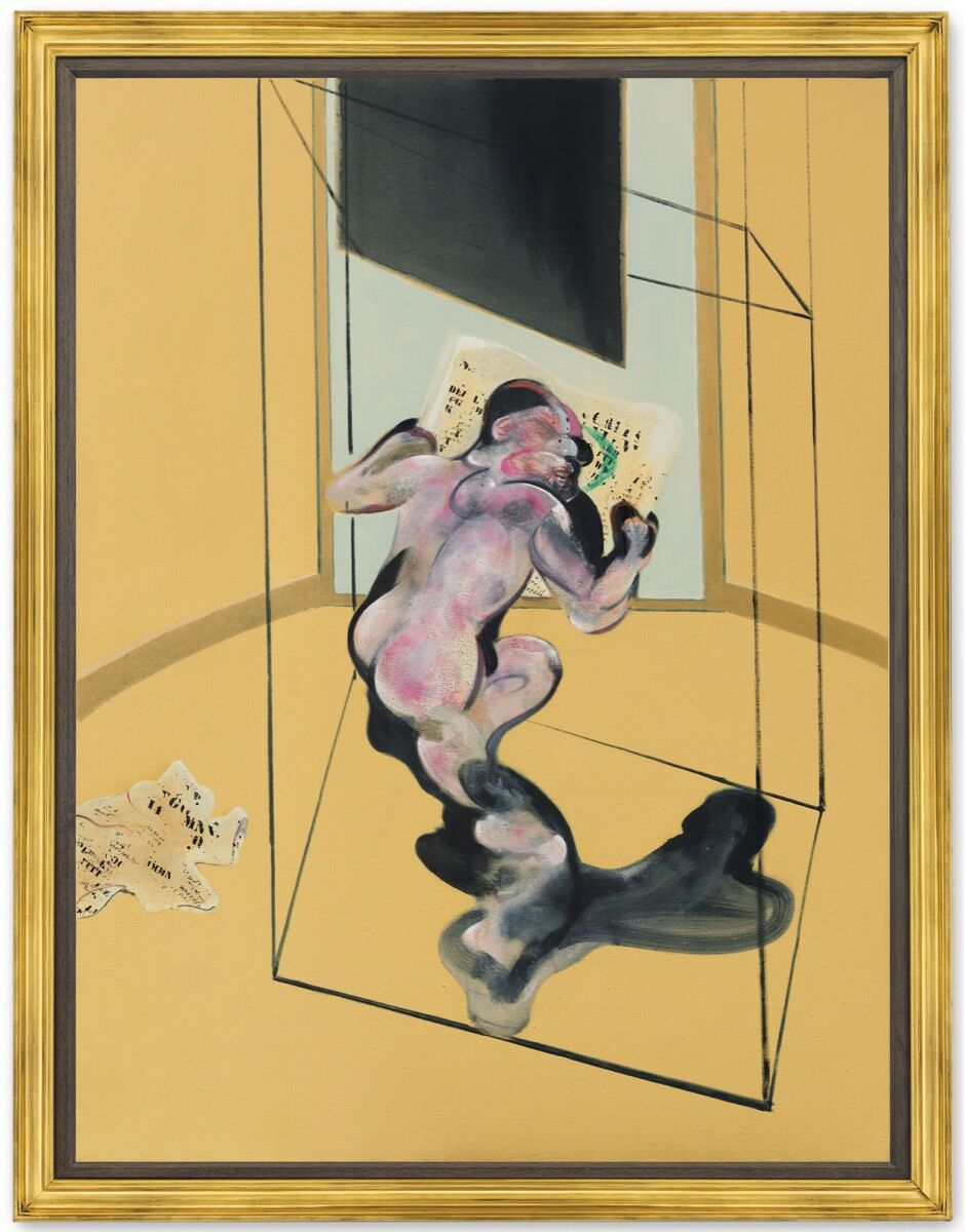Francis Bacon, Figure in Movement, 1972. Courtesy of Christie's.