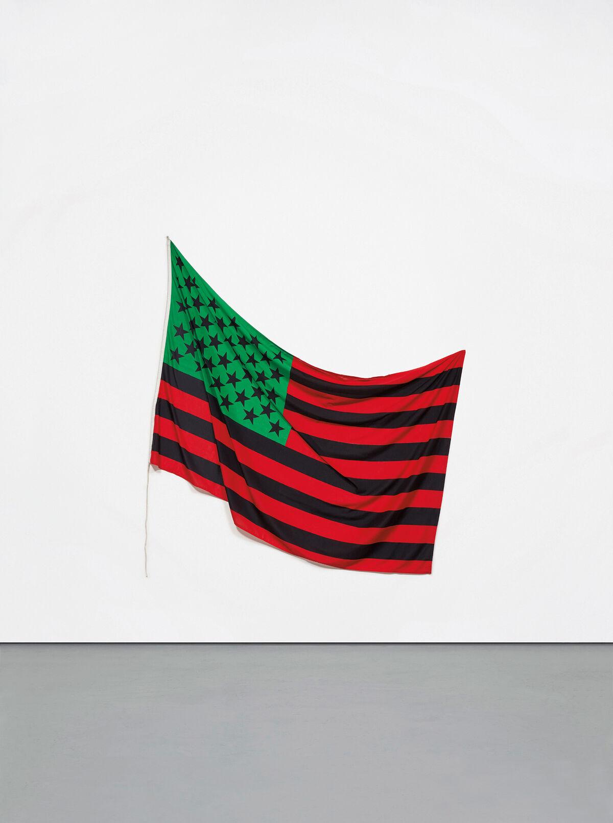 David Hammons, American Flag (1990). Est. $1.5 million–2 million. Image courtesy  Phillips.