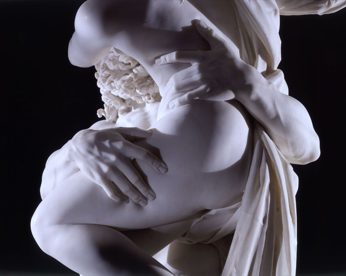 Gian Lorenzo Bernini, detail of Pluto and Proserpina (The Rape of Proserpina), 1621-22. Courtesy of Galleria Borghese.
