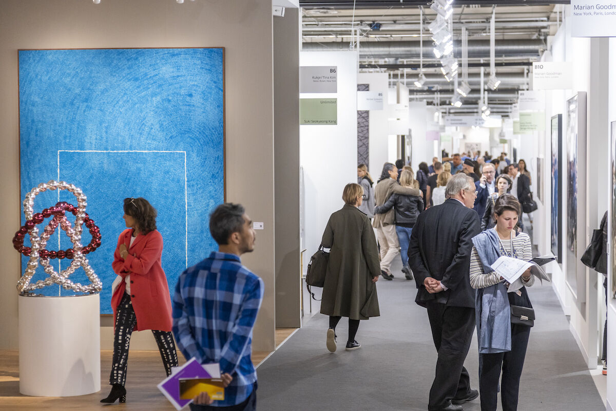 Visitors to the 2019 edition of Art Basel in Basel. Photo © Art Basel.