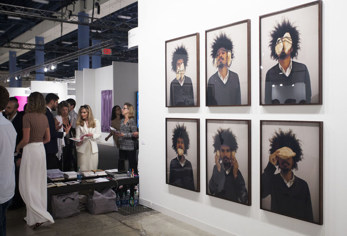 Installation view of Mendes Wood DM's booth at Art Basel in Miami Beach, 2015. Photo by Oriol Tarridas for Artsy.