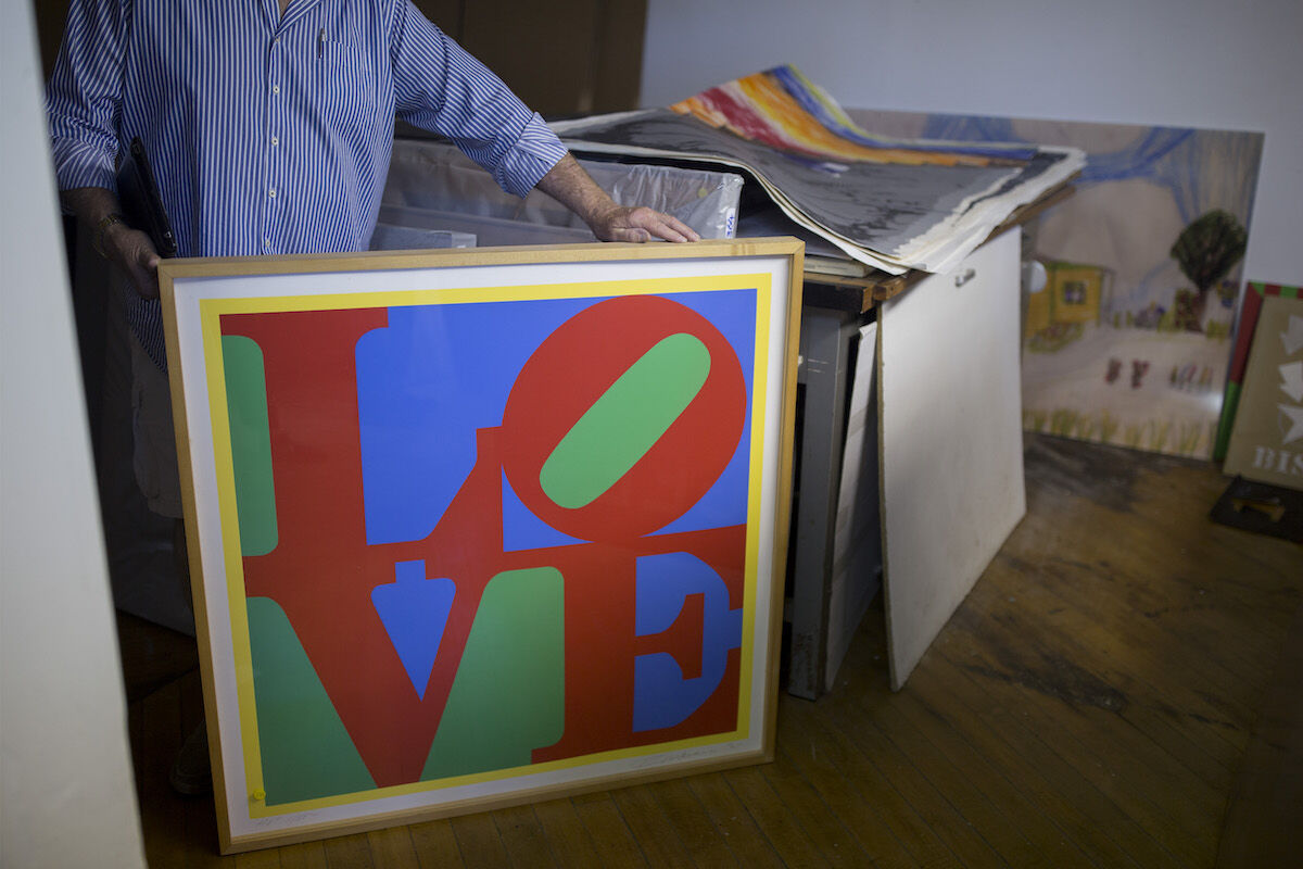 A print by Robert Indiana in the late artist's Maine home, the Star of Hope. Staff photo by Brianna Soukup/Portland Portland Press Herald via Getty Images.
