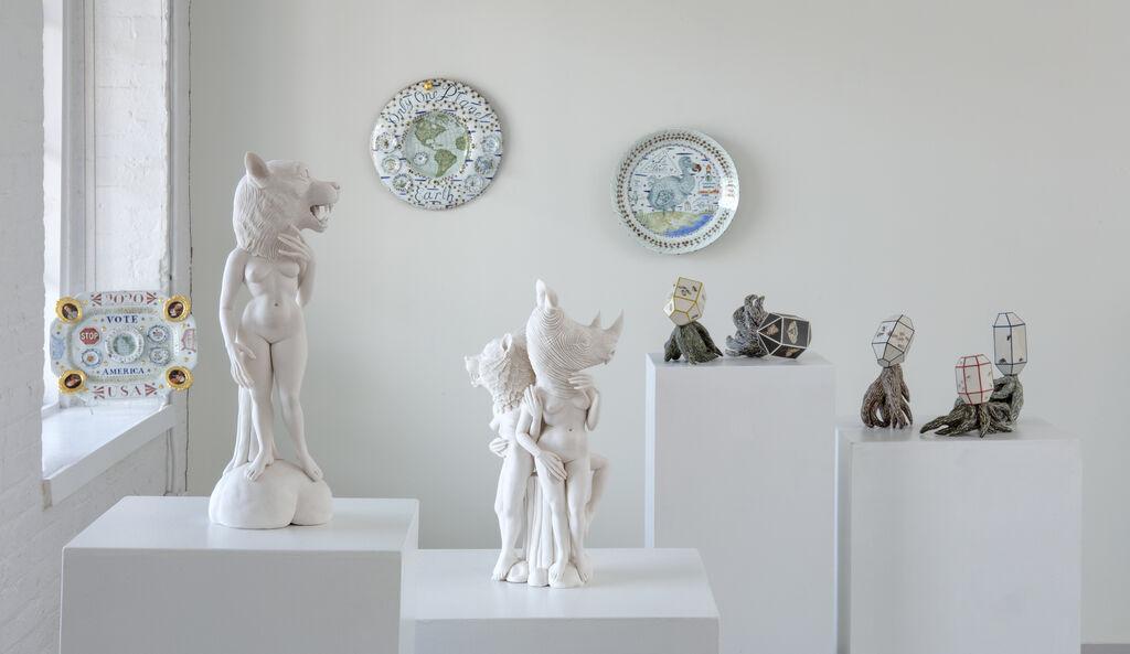 "Installation view of ""Nature/Nurture"" at Ferrin Contemporary, 2020. Courtesy of Ferrin Contemporary, North Adams, Massachusetts."