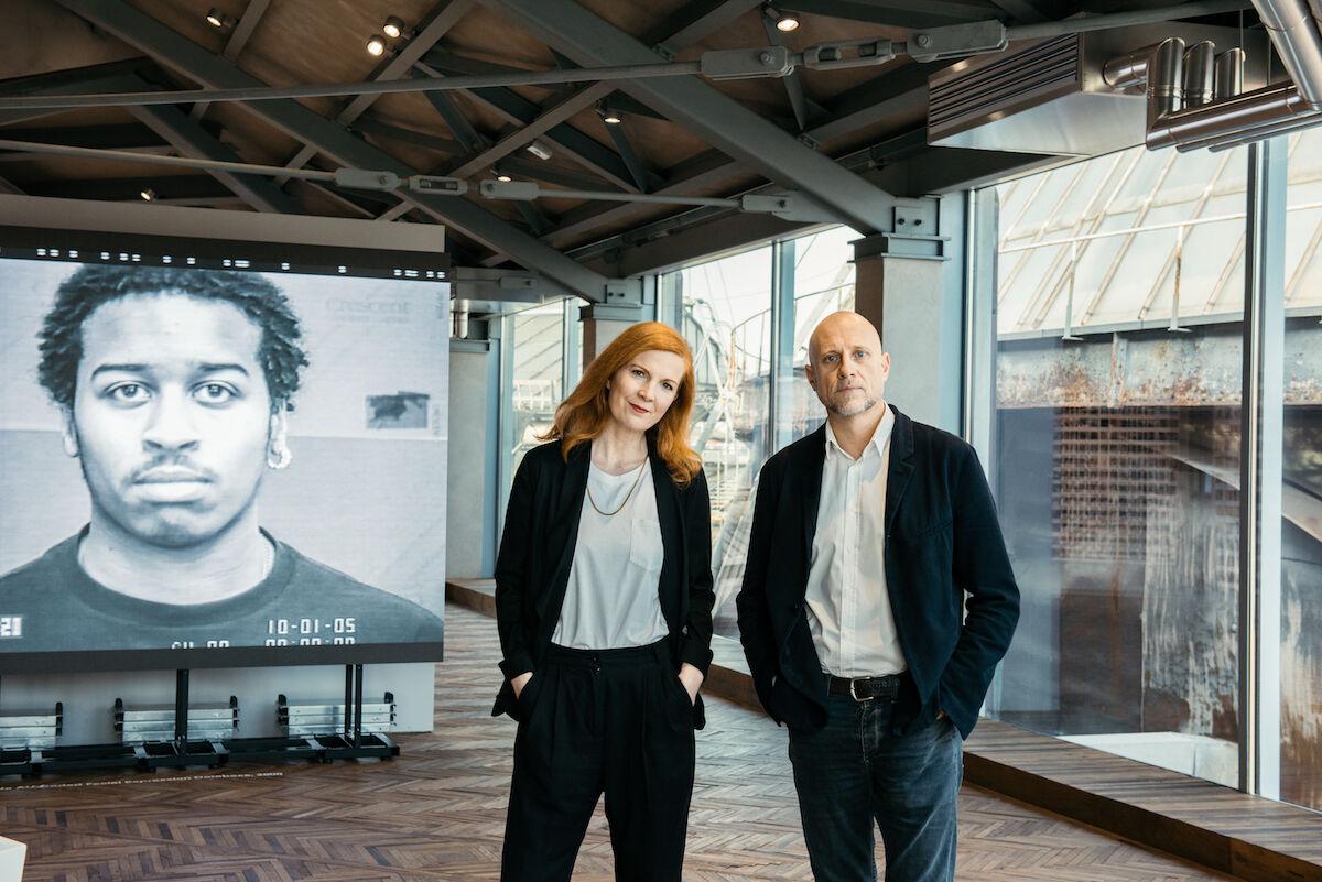"Exhibition view of ""Training Humans"" by Kate Crawford and Trevor Paglen, Osservatorio Fondazione Prada. Photo by Marco Cappelletti. Courtesy Fondazione Prada."