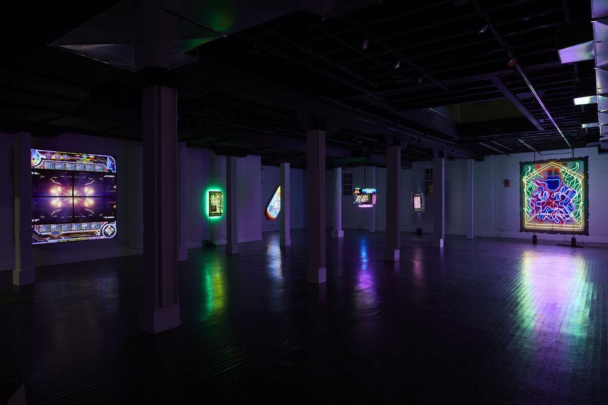 "Installation view of Tabor Robak, ""Mental,""  at Von Ammon Co, Washington D.C., 2019. Photo by Johnny Fogg. Courtesy of Von Ammon Co."