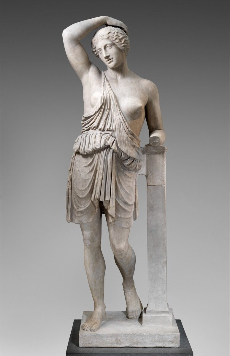 Marble statue of a wounded Amazon, 1st–2nd century A.D. Courtesy of the Met.