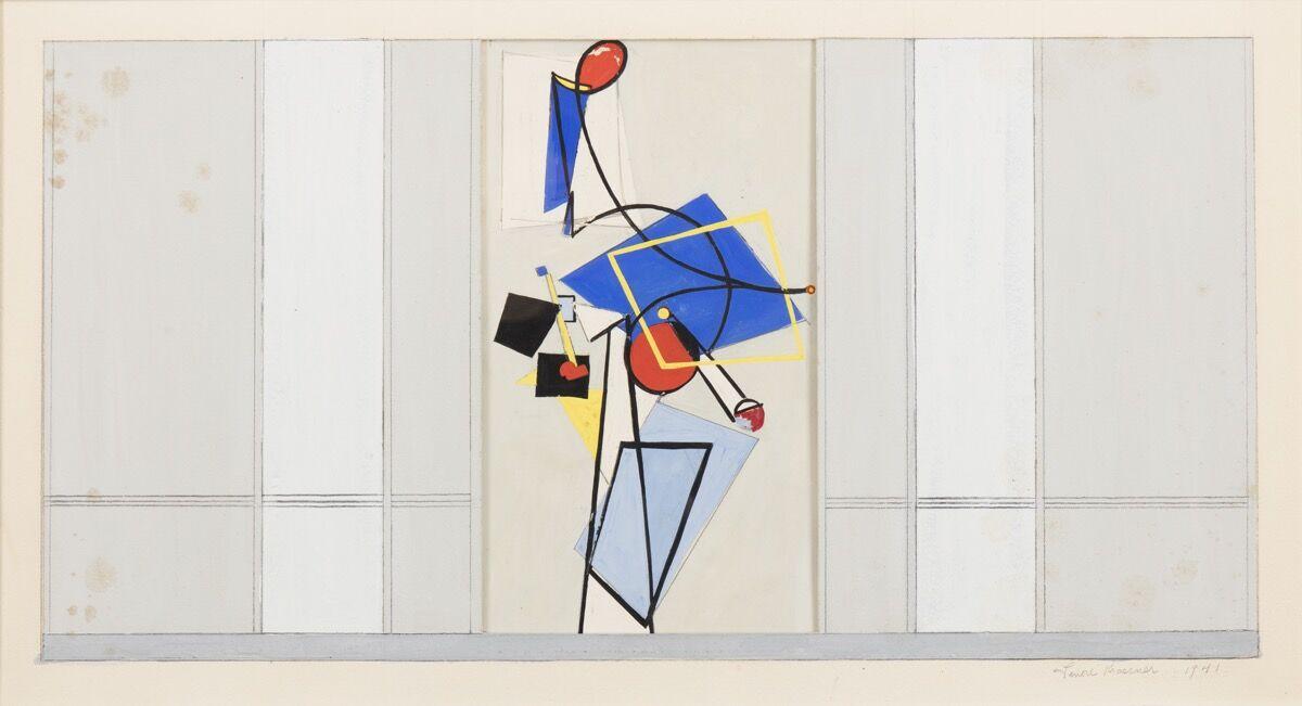 Lee Krasner, Mural Study for Studio A, Radio Station WNYC, 1941. © 2016 The Pollock-Krasner Foundation / Artists Rights Society (ARS), New York. Image courtesy of Paul Kasmin Gallery.