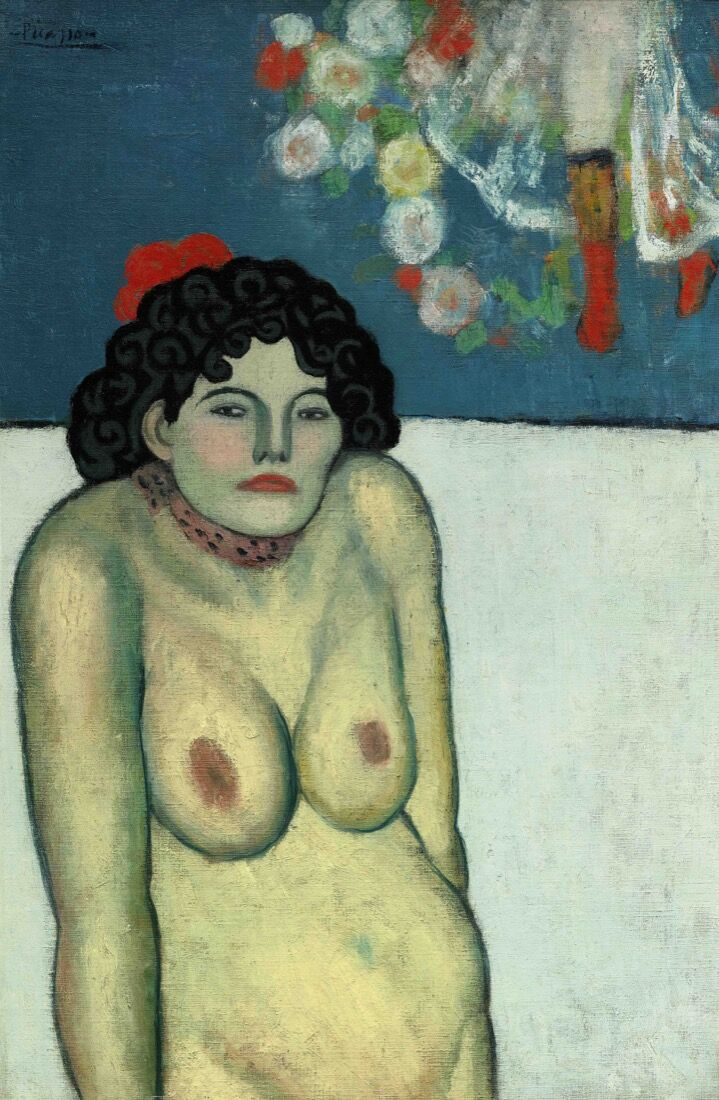 Pablo Picasso, La Gommeuse, 1901. Price Realized:$67,450,000. Courtesy Sotheby's.