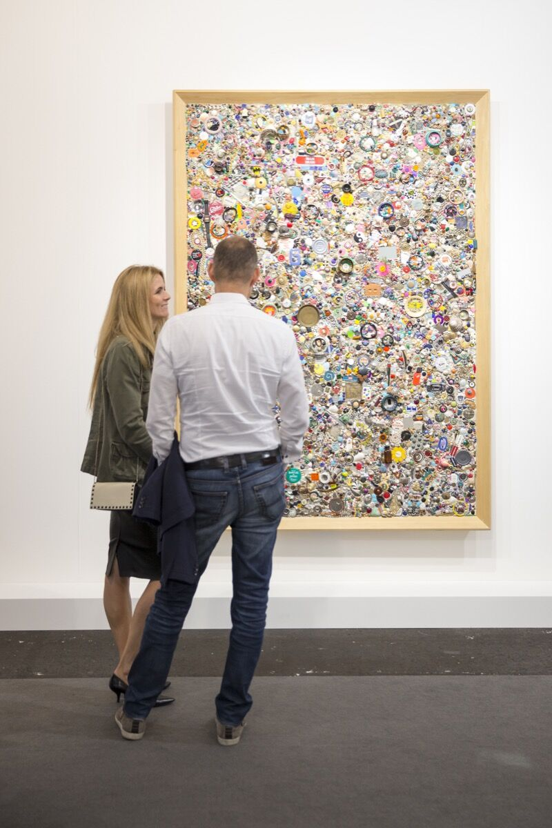 Installation view of work by Mike Kelley at Hauser & Wirth's booth at Art Basel, 2016. Photo courtesy of Art Basel.