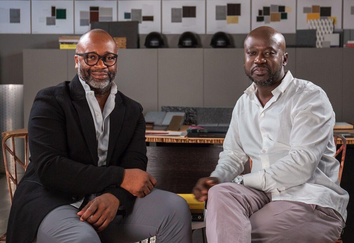 Theaster Gates and David Adjaye. Photo courtesy Sotheby's