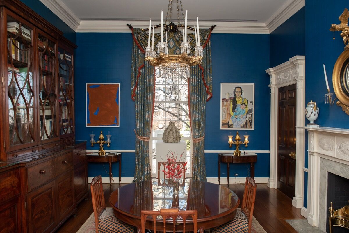 """Installation view of """"She Persists: A Century of Women Artists in New """" at Gracie Mansion, 2019. © Michael Appleton/Mayoral Photography Office. Courtesy of Michael Appleton."""