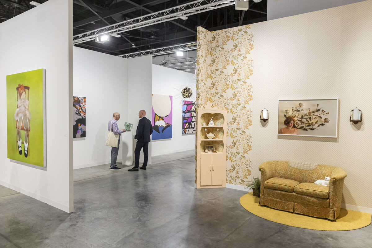 Installation view of Susanne Vielmetter Los Angeles Projects's booth at Art Basel in Miami Beach, 2018. Courtesy of Art Basel.
