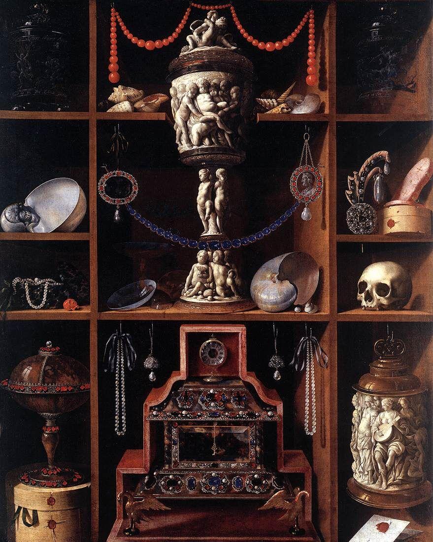 Johann Georg Hainz, Cabinet of Curiosities, 1666. Image via Wikimedia Commons.