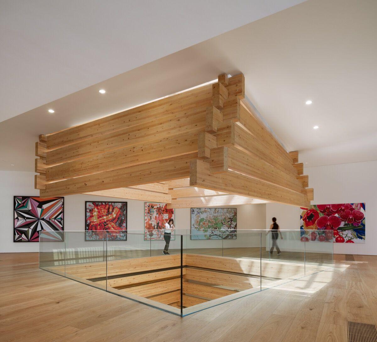 Interior view of OMM. Photo by Kengo Kuma and Associates. ©NAARO. Courtesy of the Odunpazari Modern Museum (OMM).