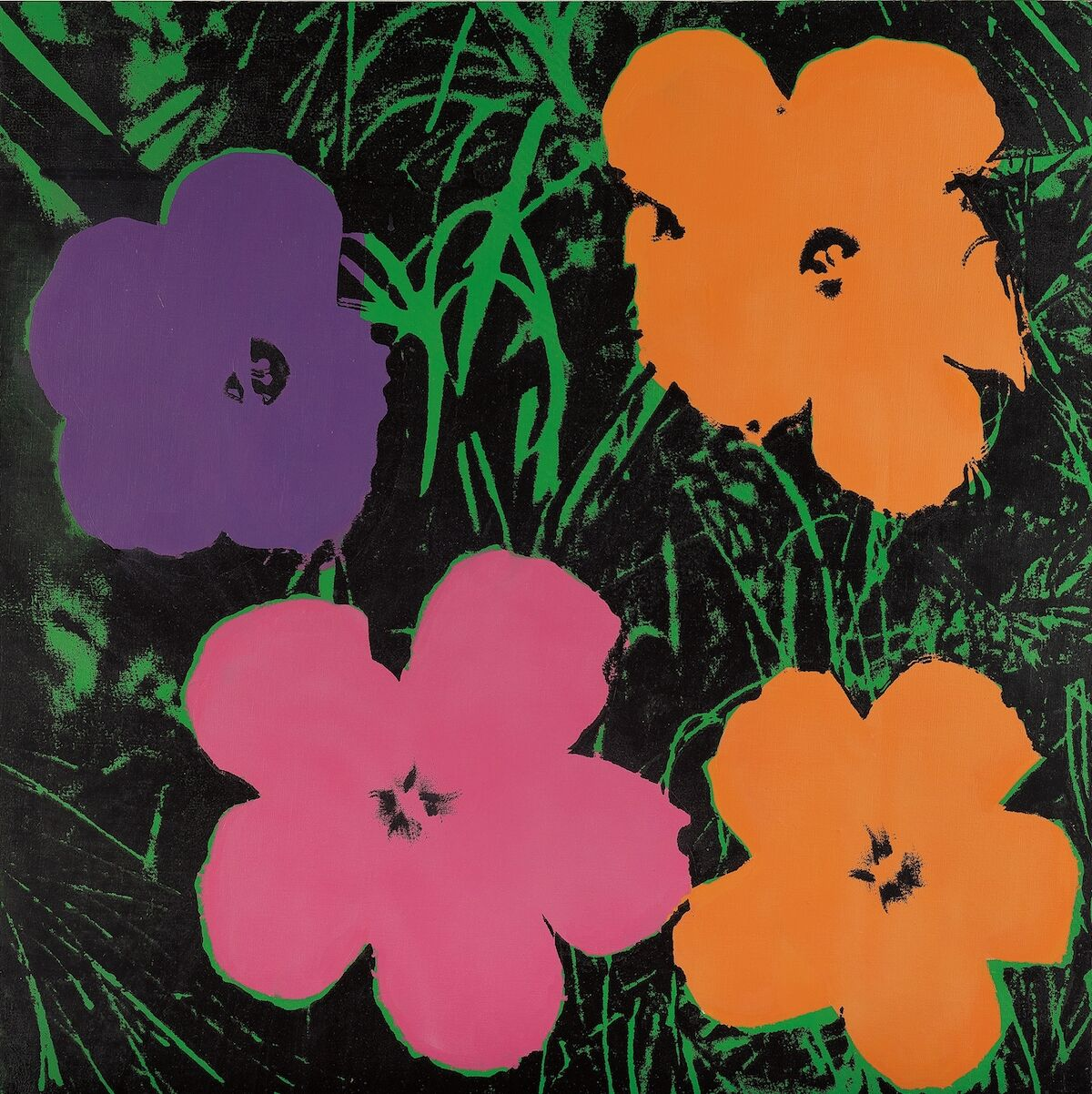 Andy Warhol, Late Four-Foot Flowers, 1967. Sold for $7.4 million. Courtesy Phillips.
