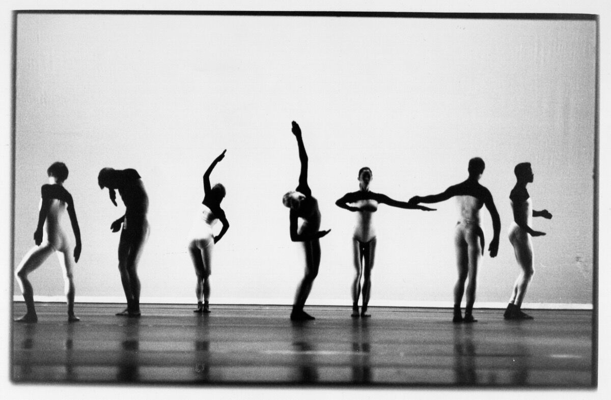 Merce Cunningham Dance Company in Beach Birds. Photo by Niklaus Strauss (1991). Courtesy of the Merce Cunningham Trust. All Rights Reserved.