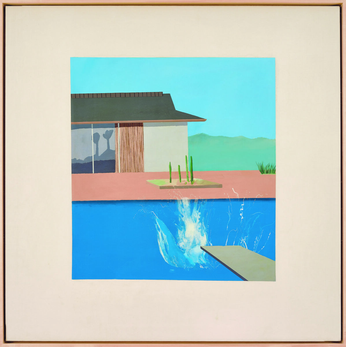 David Hockney, The Splash, 1966. Courtesy of Sotheby's.
