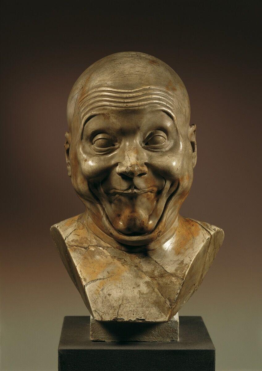 """Franz Xaver Messerschmidt, An Intentional Wag, 1770/1783. """"Character Head"""" No. 6. © Belvedere, Vienna."""