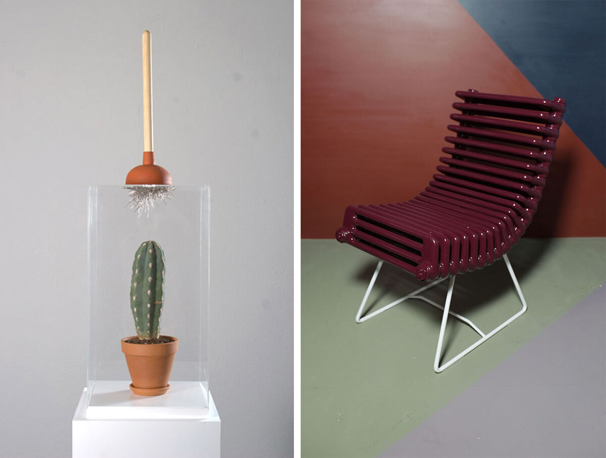 Yarisal & Kublitz, Domestication, 2009, and Boris Dennler, Heater chair, 2011, courtesy Private Collection, Belgium