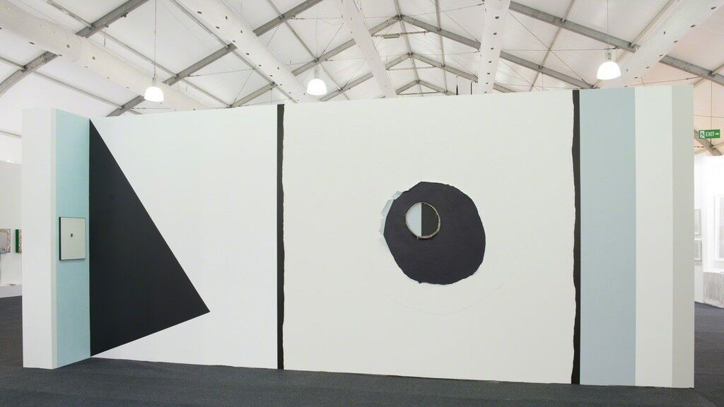 Installation view of Peter Adsett's work at PAULNACHE's booth, Art Central, 2016. Photo courtesy of PAULNACHE.
