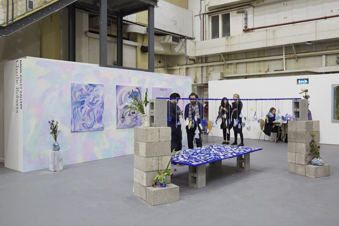 David Risley Gallery's booth at SUNDAY Art Fair, 2015. Photo by Benjamin Westoby for Artsy.