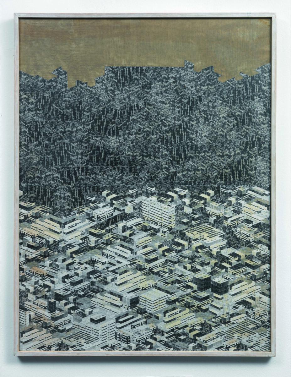 Thomas Bayrle, Ciudad por el bosque, 1982. Cortesía de New Museum.