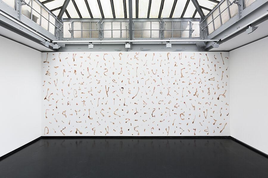"Installation view of Rollin Leonard's ""New Portraiture"" courtesy of XPO Gallery."