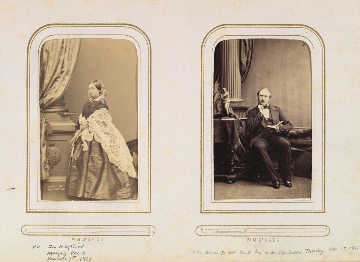 Carte de Visite Album of British and European Royalty, 1860–70s. Image via Wikimedia Commons.