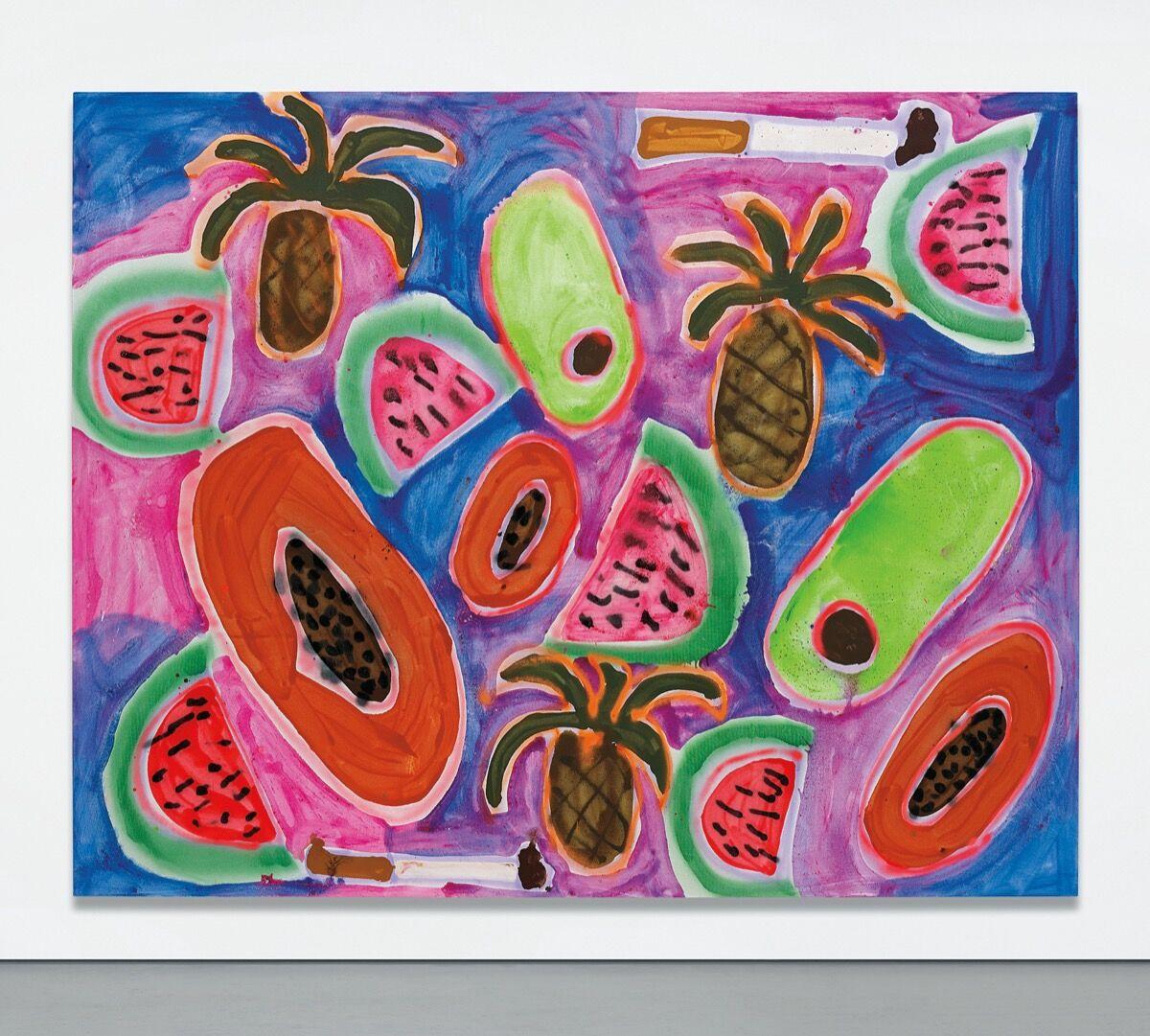Katherine Bernhardt, Hawaiian Punch, 2014. Courtesy of Phillips.