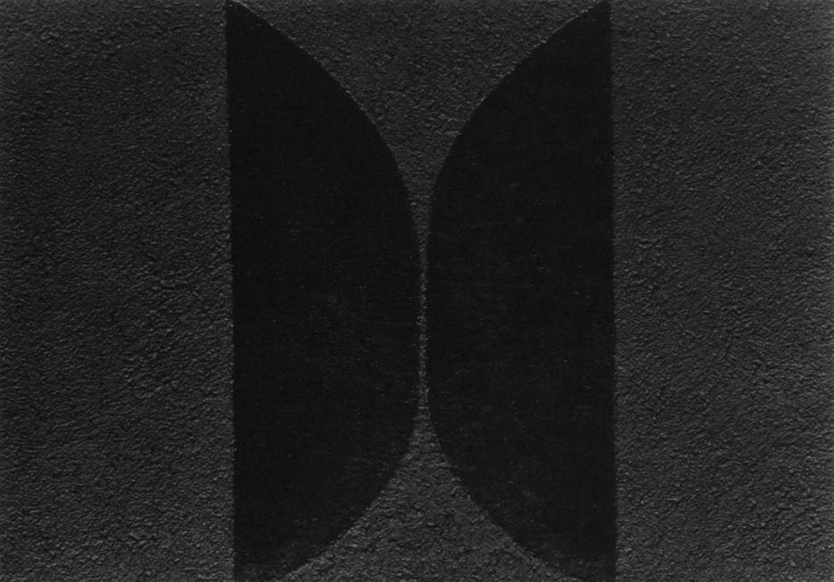 "Detail view of Alberto Burri's ""Mixoblack 10"" (1990). Mixografia print on handmade paper. 27.5 x 39.25 inches. Edition of 30."