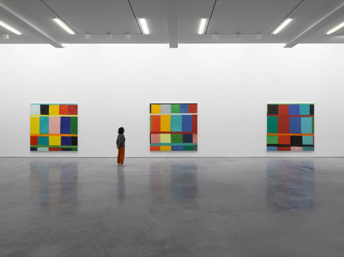 """Installation view of """"Stanley Whitney: In the Color"""" at Lisson Gallery. © Stanley Whitney. Courtesy of Lisson Gallery."""