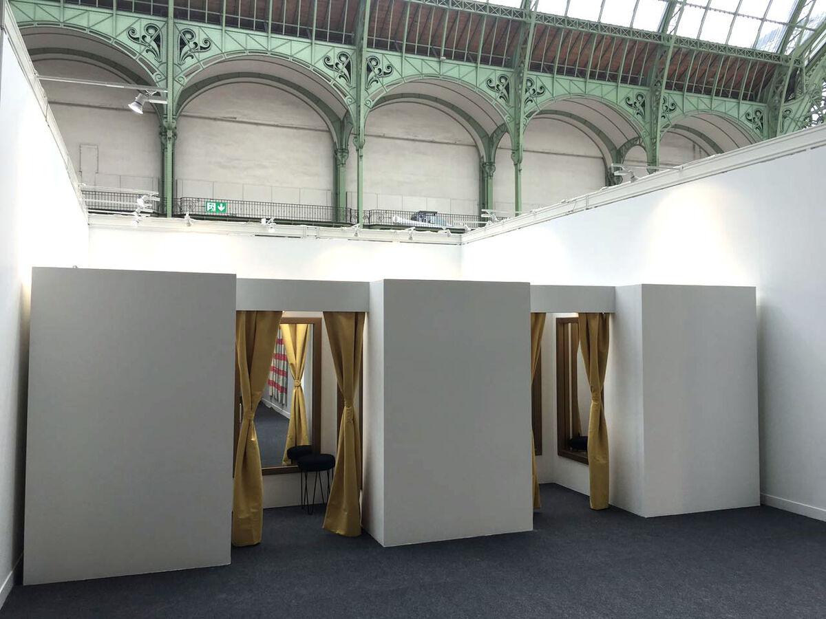 Installation view of Luciano Brito's booth at FIAC, 2016. Photo courtesy of Luciano Brito.