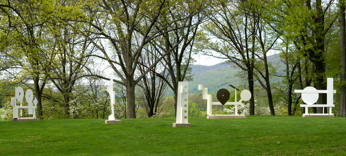 Installation view of work by David Smith. Courtesy of The Estate of David Smith, New York, and Hauser & Wirth. © The Estate of David Smith/Licensed by VAGA, New York, NY. Photo by Jerry I. Thompson, courtesy of Storm King Art Center.