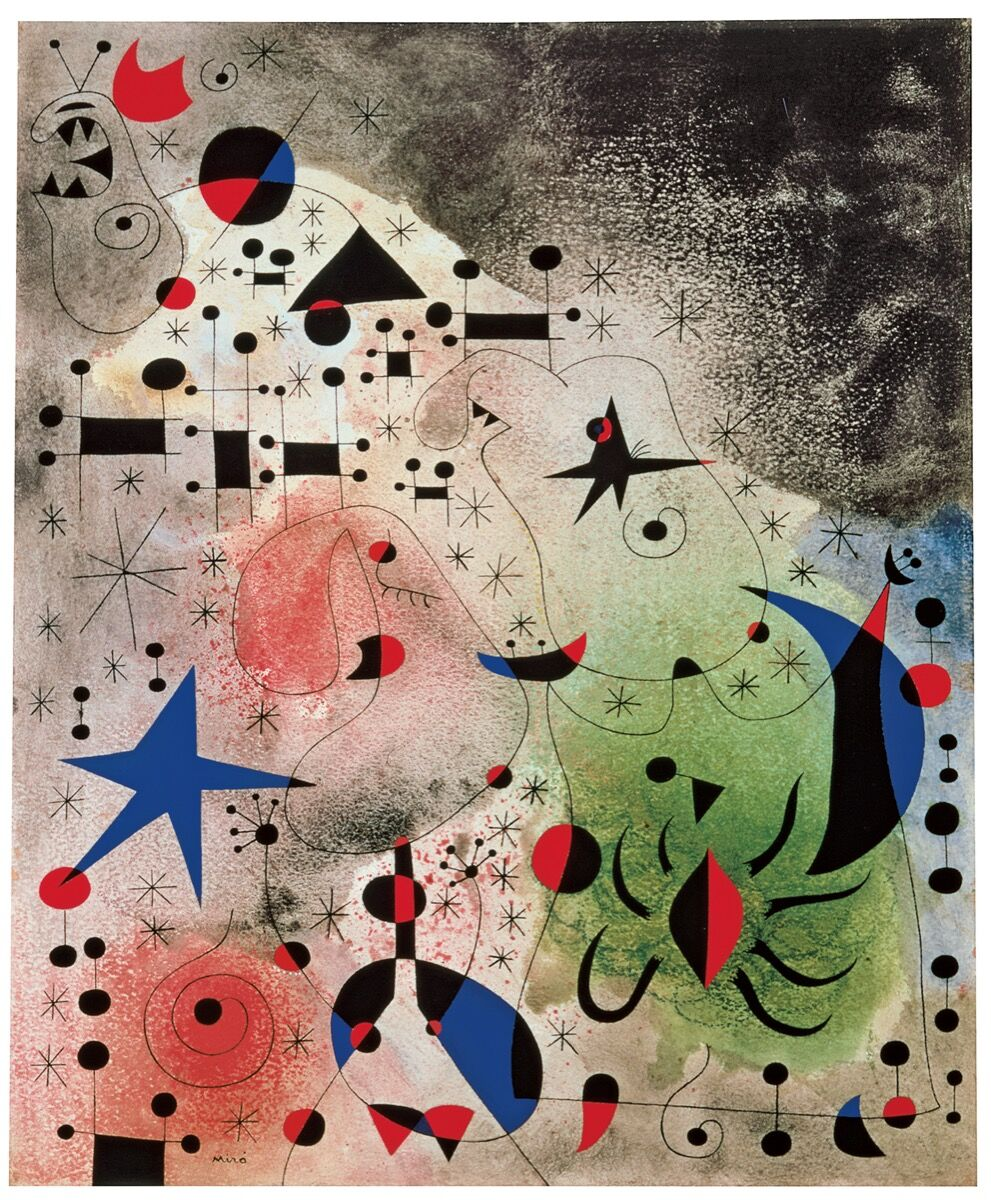 Joan Miró, L'oiseau-migrateur (The Migratory Bird), 1941. © 2016 Successió Miró / Artists Rights Society (ARS), New York / ADAGP, Paris. Courtesy of Acquavella Galleries.