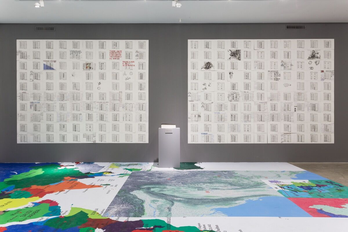 "Installation view of Gallery Yang's show ""If I Could"" by Zhang Yue. Courtesy of Gallery Yang."