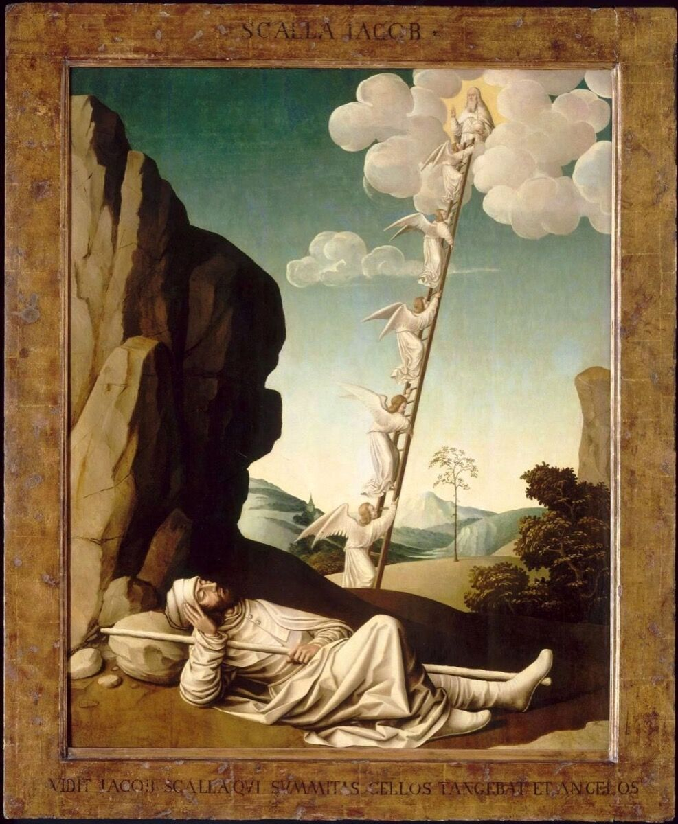 Nicolas Dipre, The dream of Jacob, ca. 1500. Image via Wikimedia Commons.