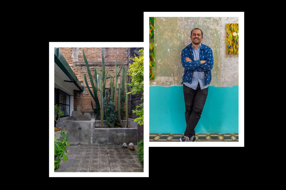 From left: Exterior of Proyectos Ultravioleta, photo by Margo Porres; portrait of Stefan Benchoam by Alan Benchoam. Both courtesy of Proyectos Ultravioleta, Guatemala City.