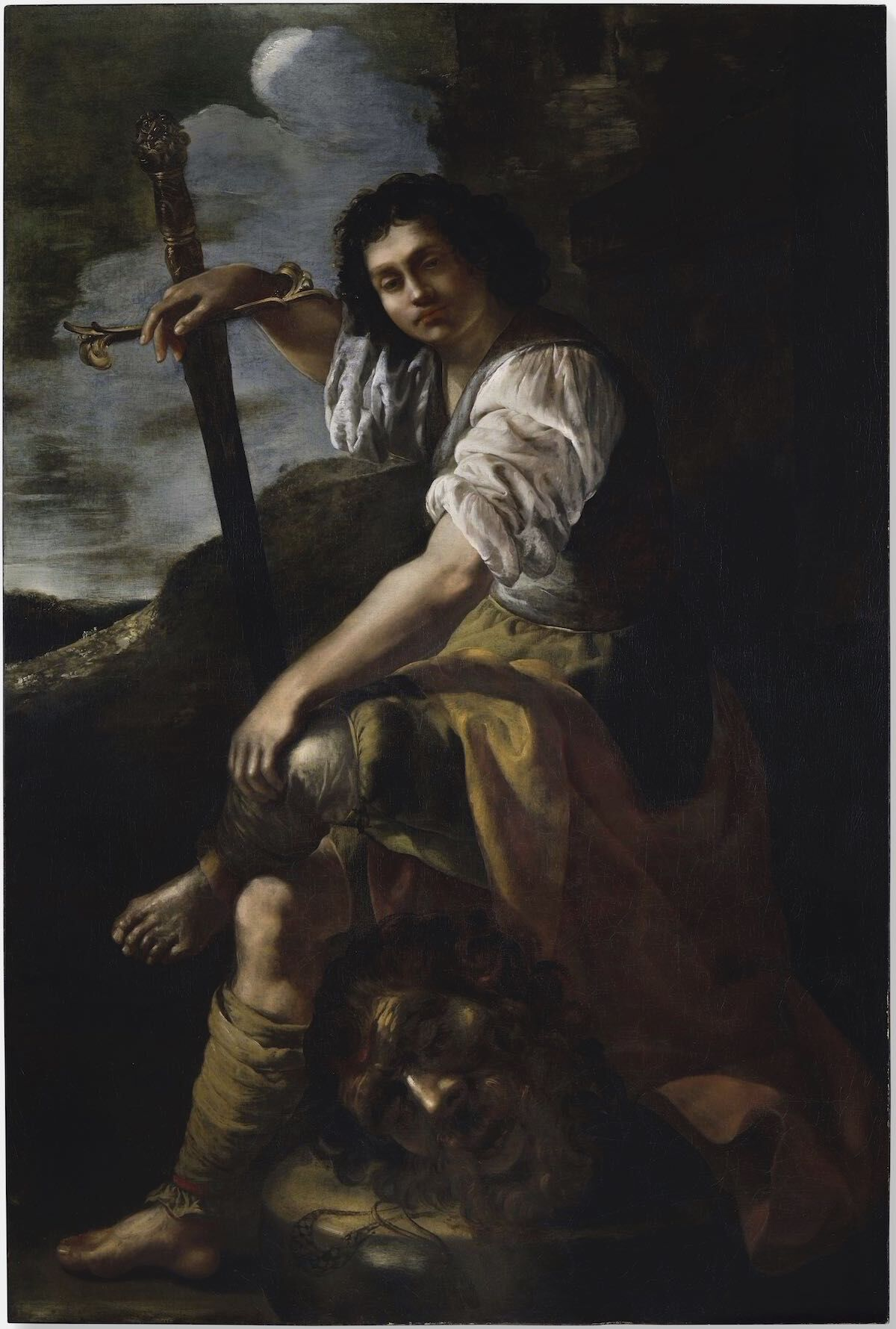 David and Goliath (late 1630s), a painting newly attributed to Artemisia Gentileschi. Photo courtesy Simon Gillespie Studio.