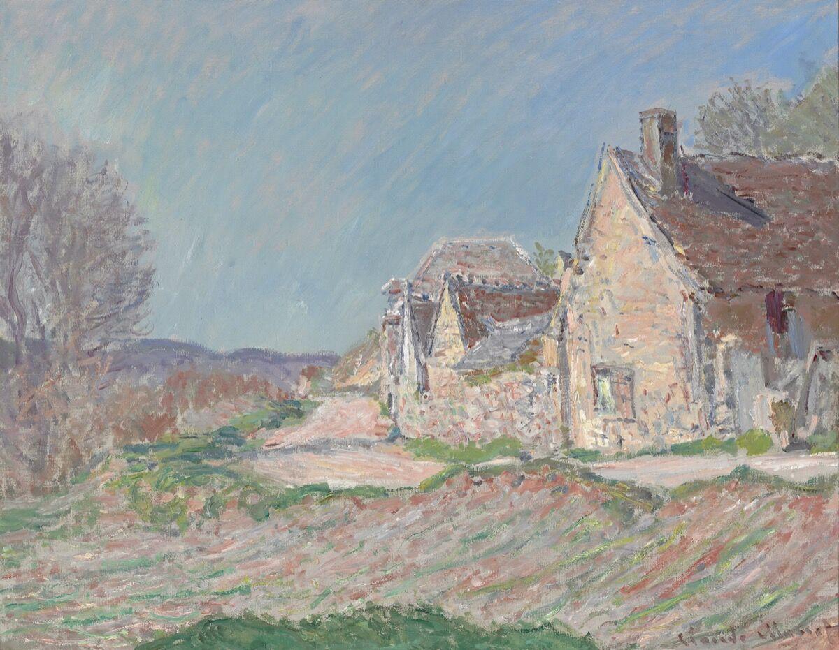 Claude Monet, Maisons au bord de la route, 1885. High Museum of Art, Atlanta, Doris and Shouky Shaheen Collection