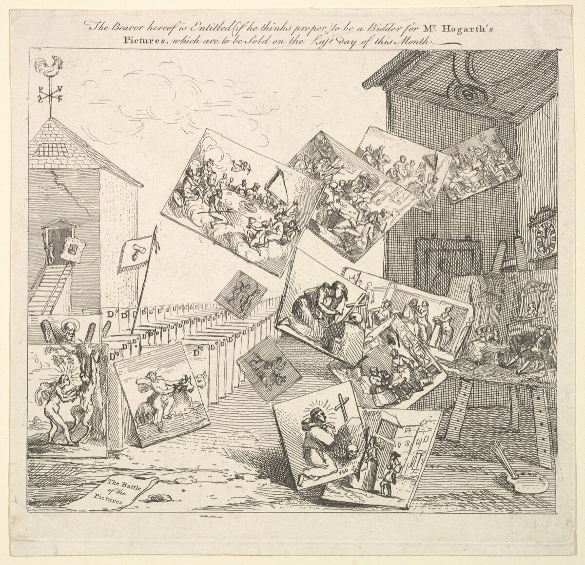 William Hogarth, The Battle of the Pictures, 1745. Courtesy of The Metropolitan Museum of Art.