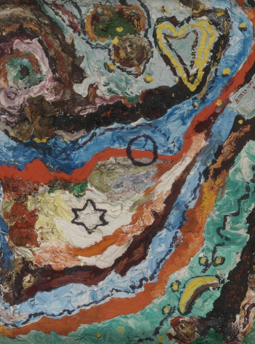Beauford Delaney, Untitled (abstract), 1945. © Estate of Beauford Delaney by permission of Derek L. Spratley, Esquire, Court Appointed Administrator. PAFA, Gift of Dr. Constance E. Clayton in loving memory of her mother Mrs. Williabell Clayton. Courtesy of Pennsylvania Academy of the Fine Arts, Philadelphia; and Michael Rosenfeld Gallery LLC, New York, NY.