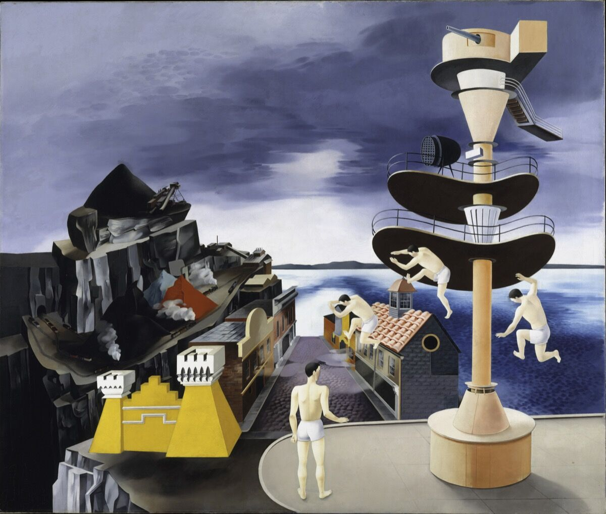 Peter Blume, South of Scranton, 1931.     Artwork © The Educational Alliance, Inc. / Estate of Peter Blume / Licensed by VAGA at Artists Rights Society (ARS), New York; image provided by the Metropolitan Museum of Art / Art Resource, New York. Courtesy of the Jewish Museum.