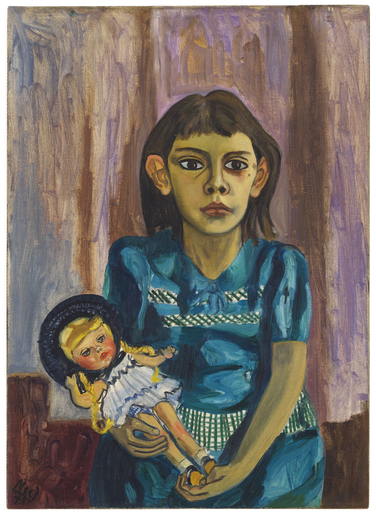 Alice Neel, Julie and the Doll, 1943. © The Estate of Alice Neel. Courtesy David Zwirner, New York/London and Victoria Miro, London.