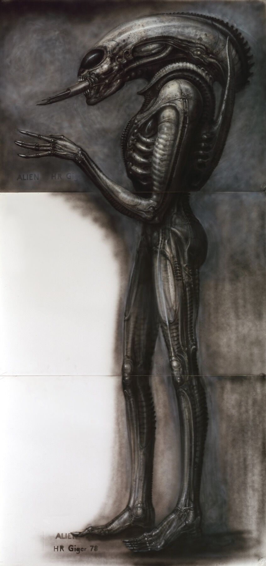 H.R. Giger, Alien III, Side View II, 1978. Courtesy of the H.R. Giger Museum.