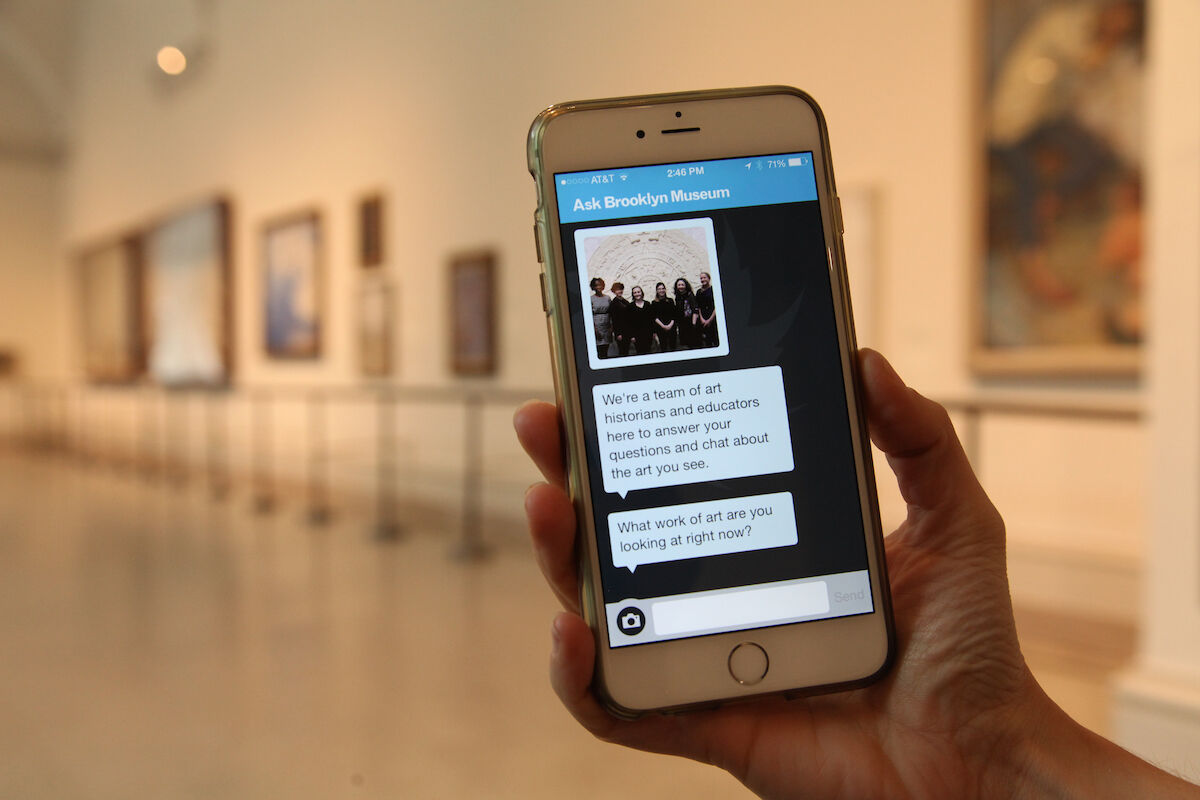 The Brooklyn Museum's ASK app. Photo courtesy of the Brooklyn Museum.