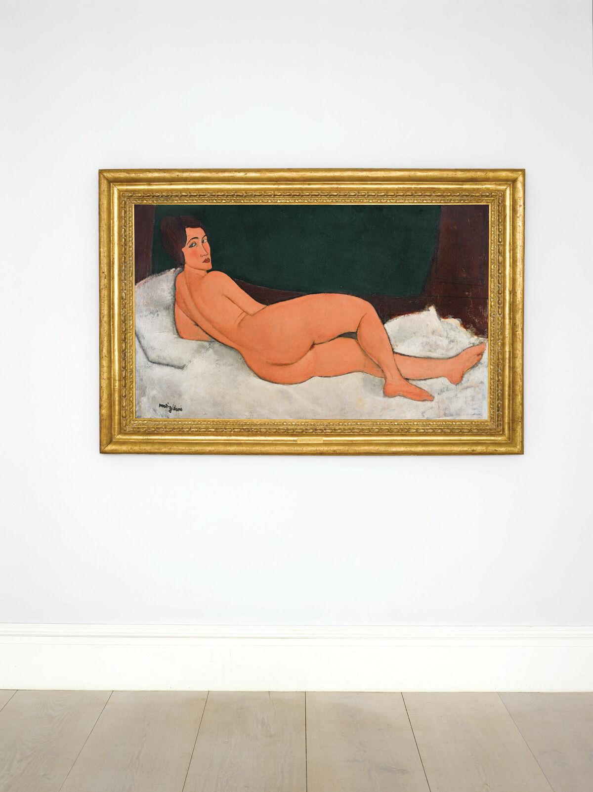 Amedeo Modigliani, Nu couché (sur le côté gauche), 1917. Photo courtesy Sotheby's.