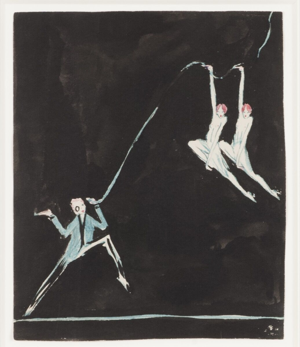 Clara Tice, Man with Monocle and Two Floating Dancers, ca. 1917. Courtesy of Francis Naumann Fine Art