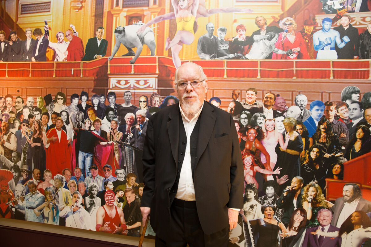Portrait of Peter Blake, © Andy Paradise. Courtesy of Royal Albert Hall.