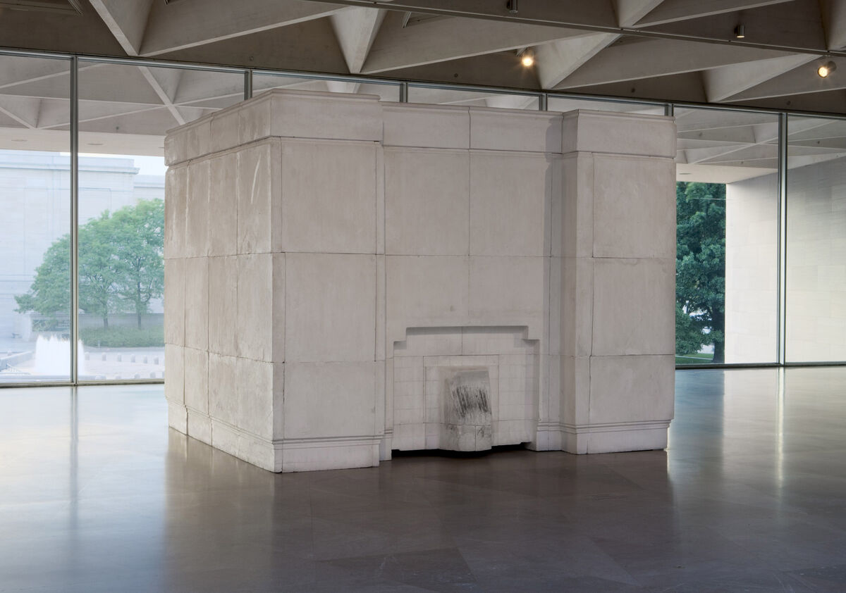 Installation view of Rachel Whiteread, Ghost, 1990, at the National Gallery of Art, Washington, 2005. © Rachel Whiteread. Courtesy of the National Gallery of Art, Washington.