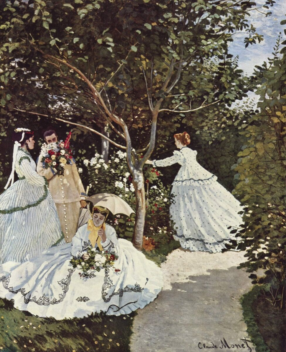 Claude Monet, Women in the Garden, 1866–67. Image via Wikimedia Commons.